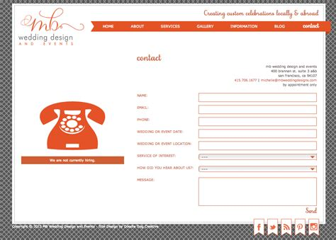 Weddingku Contact by Mb Wedding Design And Events Gets New Website Doodle