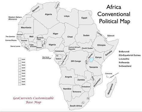 africa map key free customizable maps of africa for geocurrents