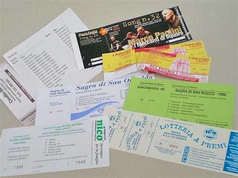 biglietti d ingresso biglietti numerati ticket lotteria biglietti ingresso
