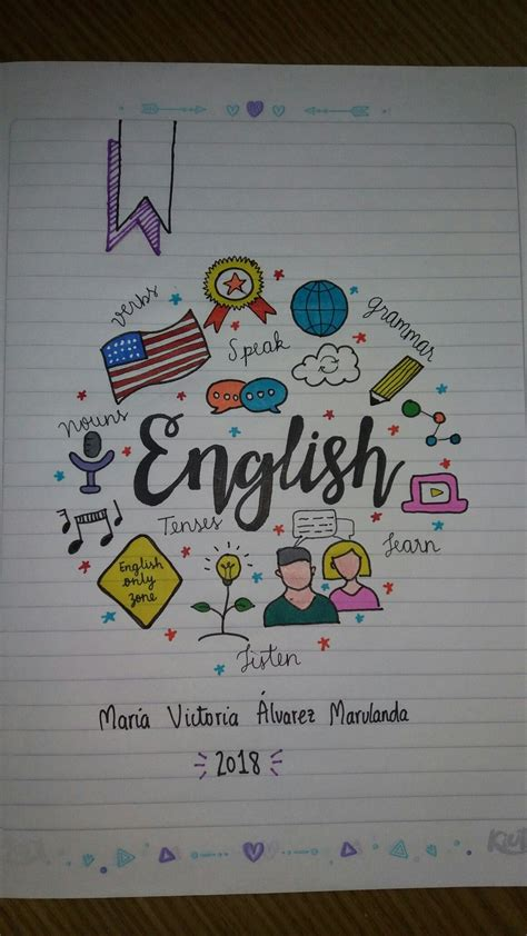 decorados in english cuaderno ingl 233 s english notebook como decorar cuadernos