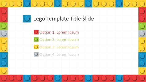 powerpoint theme template lego powerpoint template slidemodel