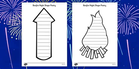 bonfire night shape poetry bonfire night shape poetry