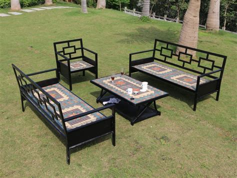 Kursi Teras Besi Vintage Iron Mosaic Outdoor Patio Garden Outdoor Living