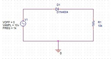 rectifier diode pspice pspice를 이용한 간단한 다이오드 diode 정류회로 rectifier circuit simulation 네이버 블로그