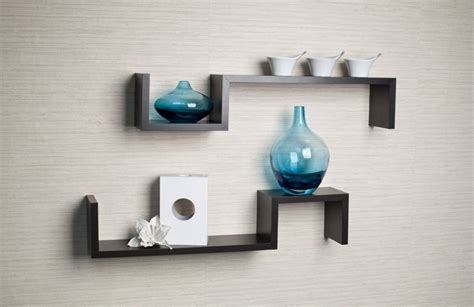 Modern Floating Shelves Decorating Ideas by Espresso Floating Wall Shelves Wall Shelves Ideas Shelf