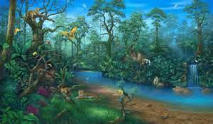 Tropical Beach Wall Murals rainforest rain forest clipart wikiclipart