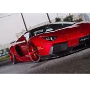 Liberty Walk Lamborghini Aventador Roadster Sees Red Everywhere