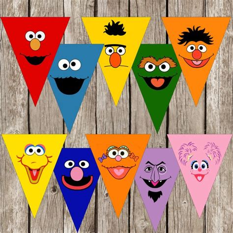 sesame street party banner sesame street birthday party