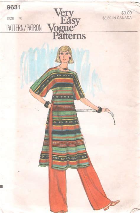 vogue patterns 9305 misses tunic and pants vogue 9631 1970 very easy misses tunic and pants pattern