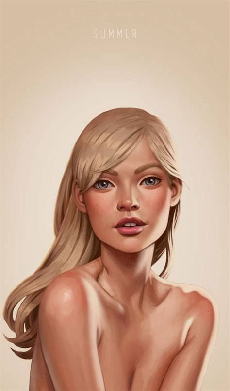 by daniela uhlig illustrations summer by daniela uhlig digitalart illustration digital