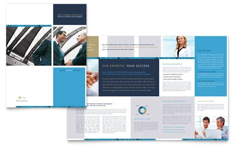 Small Business Consulting Brochure Template   Word & Publisher