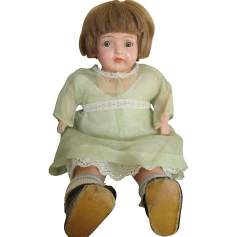 composition baby doll adorable vintage composition baby doll in original dress