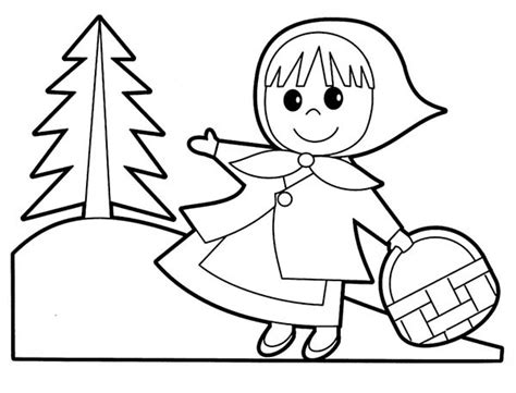 little red riding hood coloring page pertaining to current