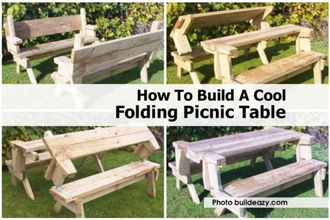 how to build picnic table bench folding picnic table bench diy quick woodworking projects