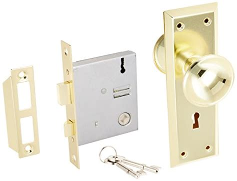 Interior Door Mortise Lock Ultra Hardware 44609 2 1 4 Quot Brass Time Mortise Interior Door Lock Set Ebay