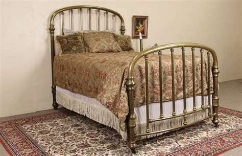 Sold Brass Bed Full Size 1900 Antique Arched Curved Brass Bed