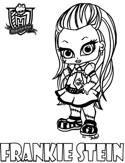 Monster High Baby Coloring Pages Coloring Home High Coloring Pages Frankie Stein