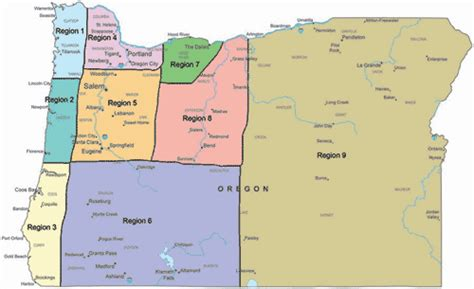 map of oregon regions welcome to oregon