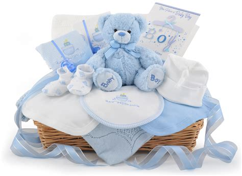 deluxe baby boy gift basket at 163 59 99 - Gifts For From Baby