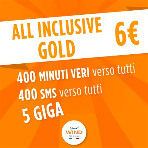 offerte wind mobile wind nuovamente disponibile all inclusive gold a soli 6