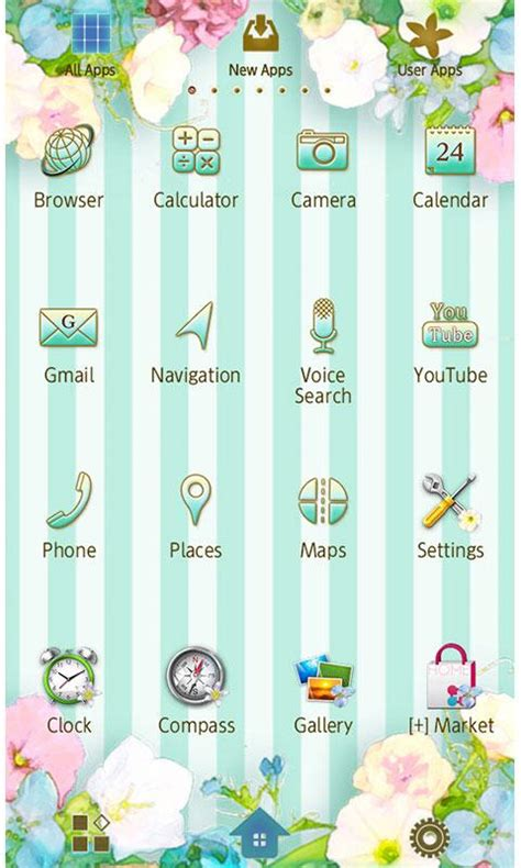 theme google pastel pastel flower wallpaper theme android apps on google play