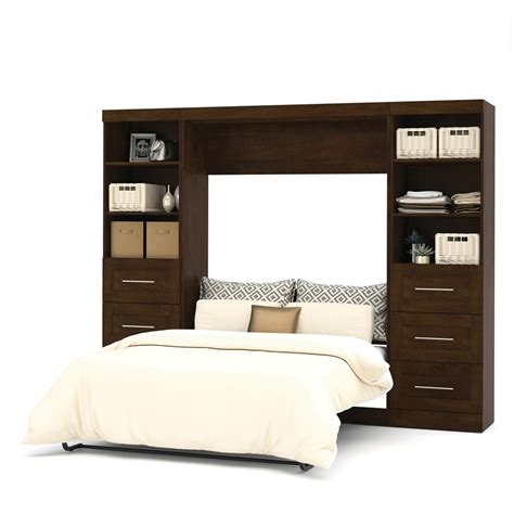 full wall bed pur 109 quot full wall bed kit in chocolate