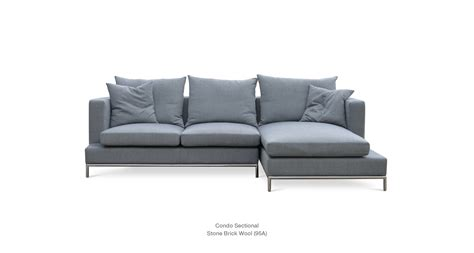 Condo Sectional Sofas Simena Condo Contemporary Sectional Sofa Sohoconcept