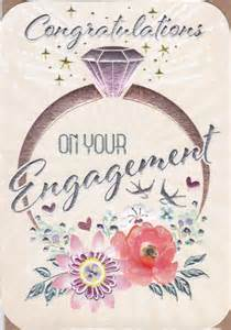 engagement ring flowers on your engagement card karenza paperie