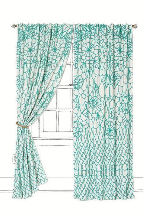 Bright Turquoise Curtains Turquoise Curtains And Construction On Pinterest