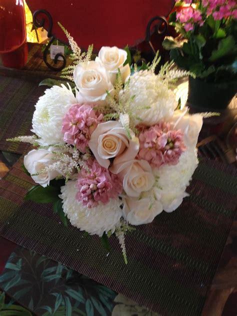 mum flower arrangement pink jpeg bridal bouquet of white fuji mums pink stock flower light pink astilbe and roses