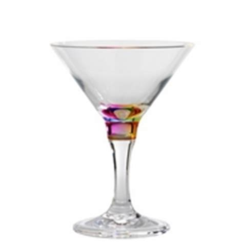 martini rainbow acrylic unbreakable polycarbonate or bpa free tritan