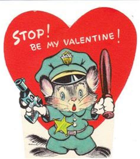 vintage valentine cards police detectives