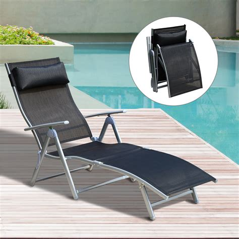 Reclining Chaise Lounge Chair Outsunny Patio Reclining Chaise Lounge Chair With Cushion Outdoor Seating Outdoor Living