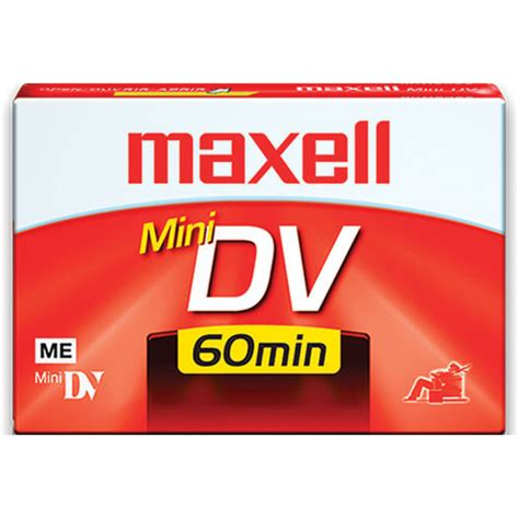 mini dv digital cassette maxell dv 60 mini dv cassette 60 minutes 298010 b h photo