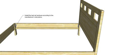How To Attach A Footboard To A Bed Frame Build A Riva Bed Designs By Studio C