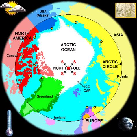 arctic map arctic map and weather reports
