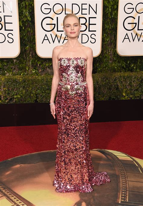 Catwalk To Carpet Kate Bosworth In Dolce Gabbana by Kate Bosworth Wears Sparkly Pink Dolce Gabbana At Golden