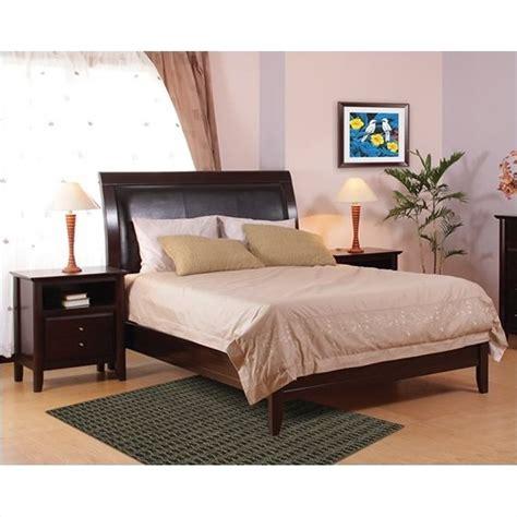 city view bedroom set city ii low profile sleigh bed in coco 3 piece bedroom set