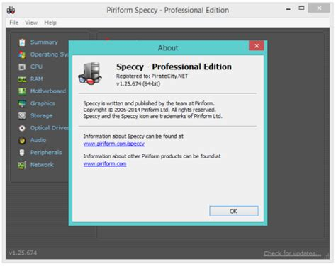 ccleaner onhax pinform speccy