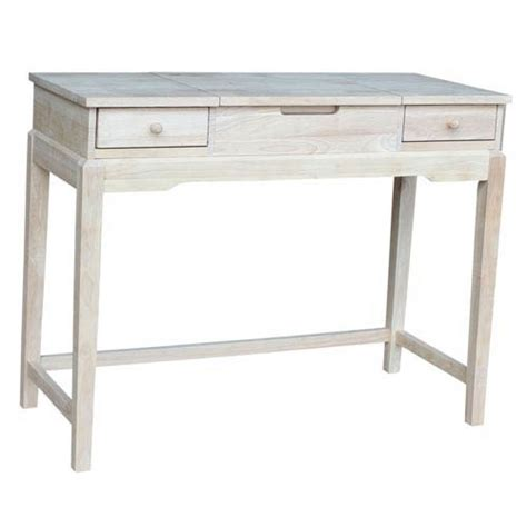 Unfinished Wood Vanity Table Home Accents Unfinished Wood Vanity Bench Unfinished International Concepts Vanity