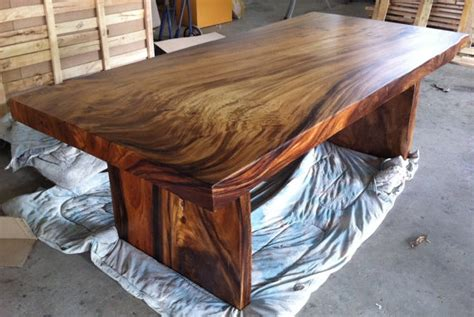 live edge dining table reclaimed solid slab acacia wood