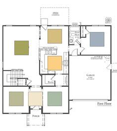 open floor plan color scheme lair pinterest paint schemes for open floor plans google search paint