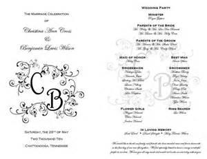 35 best printable wedding programs images on pinterest