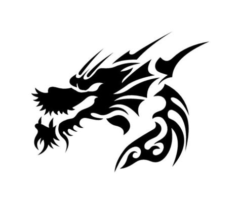 pochoir tatouage temporaire unik tattoo dragon 14