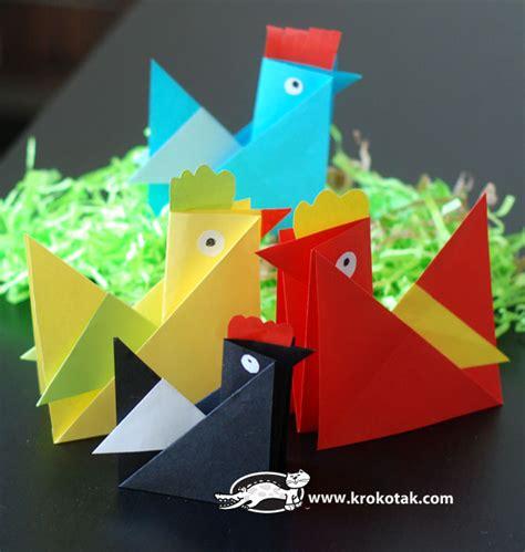 Origami Hen - krokotak origami hen