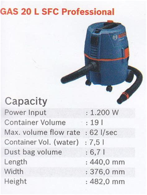 Alat Vacum And Spray Sf 807a bosch vacuum cleaner gas 20l sfc professional