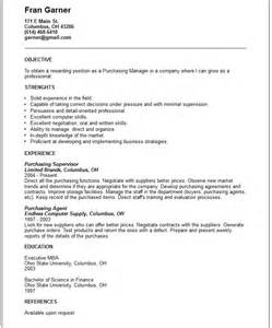Retail Purchasing Manager Resume   Latest Resume Format