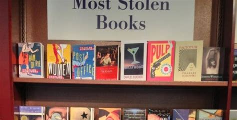the stolen books what are the most stolen books bookstore lists feature