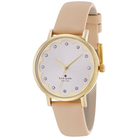 Kate Spade | kate spade women s metro vachetta leather strap watch 34mm 1yru0586 in gold lyst
