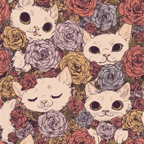 cat wallpaper tile tile wallpaper tumblr seamless patterns pinterest